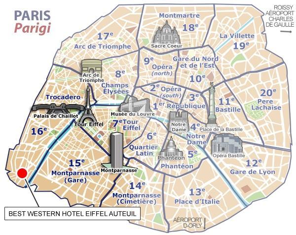 Emplacement h tel best western eiffel auteuil paris - Parking porte de saint cloud ...